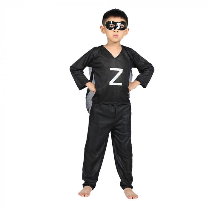 Costum Zorro pentru copii, negru [0]