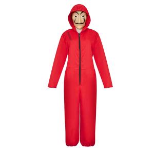Costum pentru copii, La Casa de Papel, marimea L 120-130 cm, rosu0