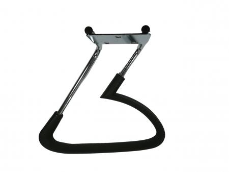 Set doua brate, manere, scaun directorial, metal, negre [1]