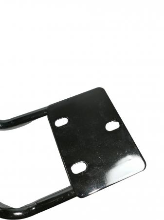 Set doua brate, manere, scaun directorial, metal, negre [3]