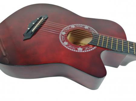 Chitara clasica din lemn 95 cm, visinie Cutaway, husa nylon inclusa3