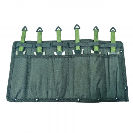 Set sase cutite de aruncat, Army Fury, otel inoxidabil, 19 cm [4]