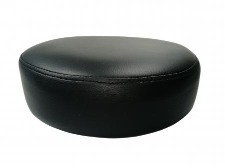 Taburet pentru scaun rotund, piele ecologica, 34 cm, negru [0]