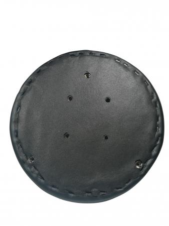 Taburet pentru scaun rotund, piele ecologica, 34 cm, negru [1]