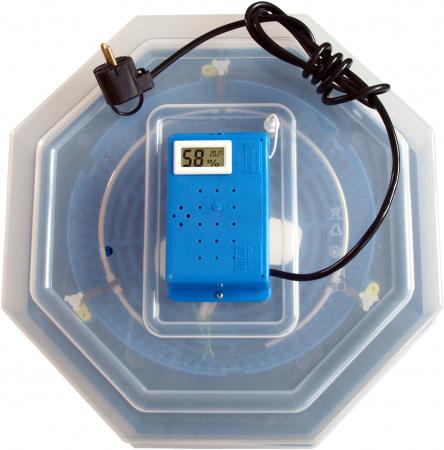 Incubator electric pentru oua, Cleo 5TH, termometru si termohigrometru, galben [2]