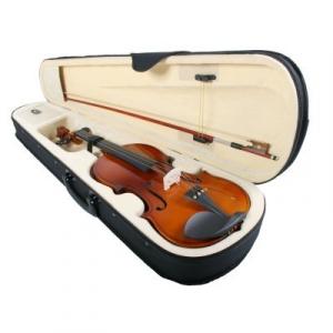 Vioara clasica din lemn 3/4 toc inclus + set corzi cadou3