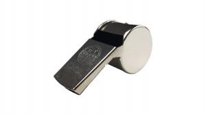 Fluier metalic, bila, argintie0