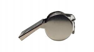 Fluier metalic, bila, argintie1
