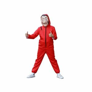Costum pentru copii, La Casa de Papel, marimea L 120-130 cm, rosu3