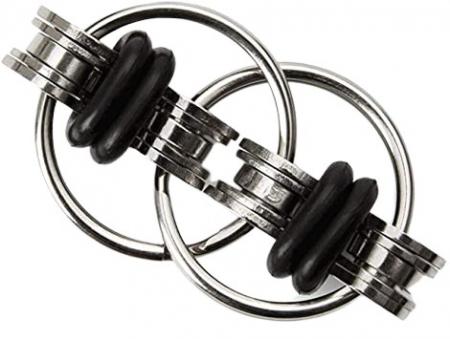 Jucarie antistres, inele infinite, metal, 5 cm [3]