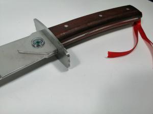 Sabie de vanatoare, Wrath Blade, maner lemn, 69 cm, teaca cadou4