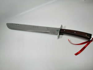 Sabie de vanatoare, Wrath Blade, maner lemn, 69 cm, teaca cadou5
