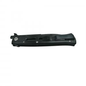 Cutit-briceag, otel inoxidabil, deschidere manuala, negru, 22 cm2