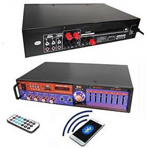Amplificator digital, tip Statie, 2x20 W, Bluetooth, telecomanda, intrari USB, SD Card, microfon4
