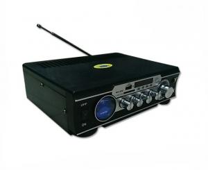 Amplificator digital, tip Statie, 2x30 W, telecomanda, USB-SD, 2 intrari microfon1