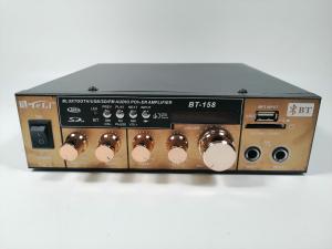 Amplificator bluetooth digital, tip Statie, 2x80 W, intrari USB-SD, doua intrari microfon1