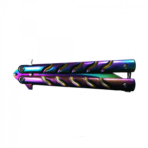 Cutit, Briceag fluture, Balisong, Butterfly 22.5 cm, Rainbow-Palette1