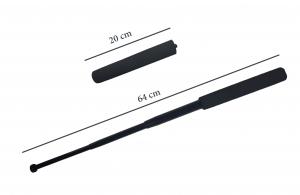 Baston telescopic, 64 cm, maner burete, negru3