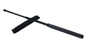 Baston telescopic din otel, negru, 60 cm, 3 sectiuni, husa cadou [0]