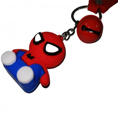 Breloc Spiderman pentru copii, cauciuc, rosu, 21 cm [1]
