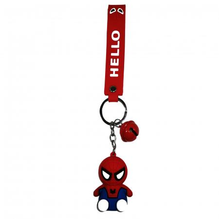 Breloc Spiderman pentru copii, cauciuc, rosu, 21 cm [0]