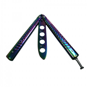 Briceag de antrenament, otel inoxidabil, Rainbow Scales, multicolor, 21.5 cm2