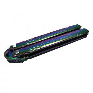 Briceag de antrenament, otel inoxidabil, Rainbow Scales, multicolor, 21.5 cm3