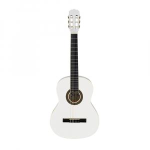 Chitara clasica din lemn 95 cm, alb clasic, husa nylon inclusa - Copie2
