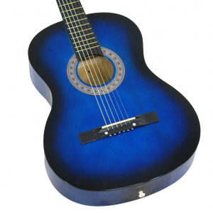 Chitara clasica din lemn 95 cm, albastru marin2