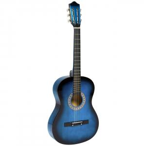 Chitara clasica din lemn 95 cm, albastru marin0