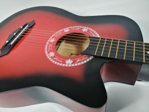 Chitara clasica din lemn 95 cm, Cutaway Country Red [5]