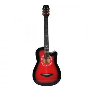 Chitara clasica din lemn 95 cm, Cutaway Country Red [0]