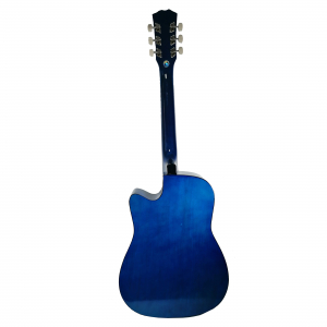 Chitara clasica din lemn 95 cm, Deluxe Edition, Cutaway Country Blue1