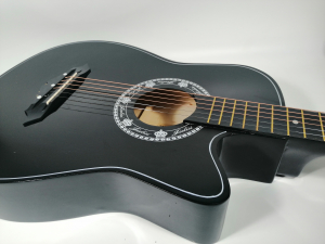 Chitara clasica din lemn 95 cm, Cutaway Country Black4