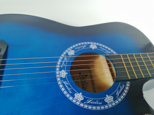 Chitara clasica din lemn 95 cm, Deluxe Edition, Cutaway Country Blue4