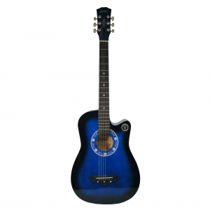Chitara clasica din lemn 95 cm, Deluxe Edition, Cutaway Country Blue0
