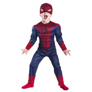 Costum Spiderman cu muschi pentru copii marime M, 5 - 7 ani0
