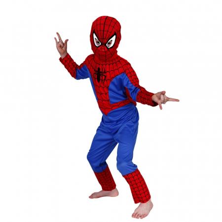 Set costum Spiderman clasic si masca LED [1]