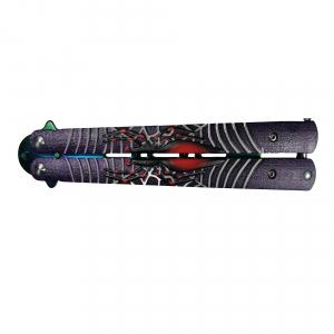 Cutit, Briceag fluture, Balisong, Butterfly pentru antrenament, 24 cm, Spider Web2