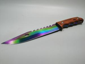 Cutit de vanatoare, Wood Rainbow, 33 cm, multicolor [2]