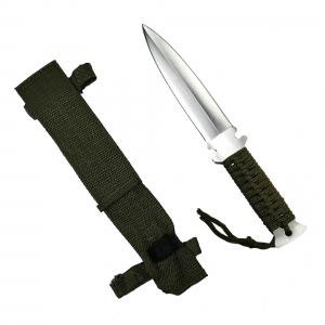 Cutit, otel inoxidabil, argintiu, Knife for the Jungle, 26 cm, teaca cadou0