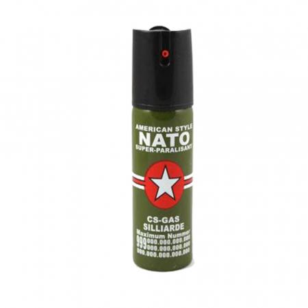 Kit autoaparare baston telescopic din otel, 64 cm, 4 sectiuni, box si spray paralizant Nato [2]