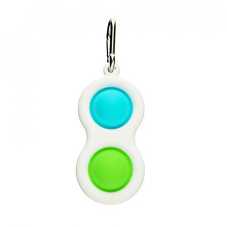Jucarie antistres, Pop it, breloc, 8 cm, multicolor [0]