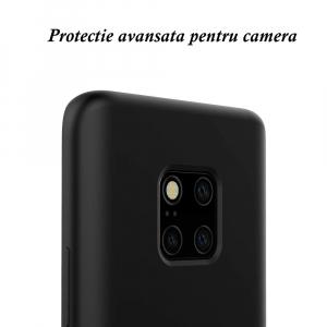 Husa pentru Huawei Mate20 Pro, Black Slim, Liquid Silicone7