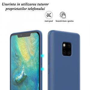 Husa pentru Huawei Mate20 Pro, Blue Slim, Liquid Silicone7