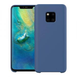 Husa pentru Huawei Mate20 Pro, Blue Slim, Liquid Silicone0
