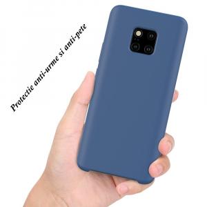 Husa pentru Huawei Mate20 Pro, Blue Slim, Liquid Silicone1