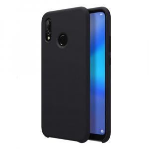 Husa pentru Huawei P20 Lite, Black Slim, Liquid Silicone0