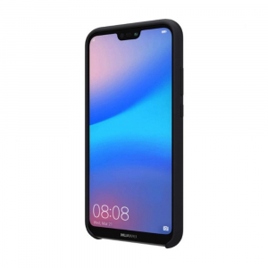 Husa pentru Huawei P20 Lite, Black Slim, Liquid Silicone3