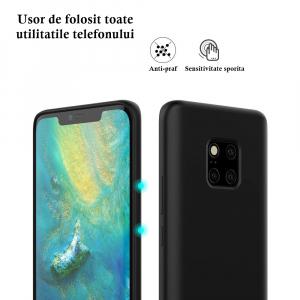 Husa pentru Huawei Mate20 Pro, Black Slim, Liquid Silicone6